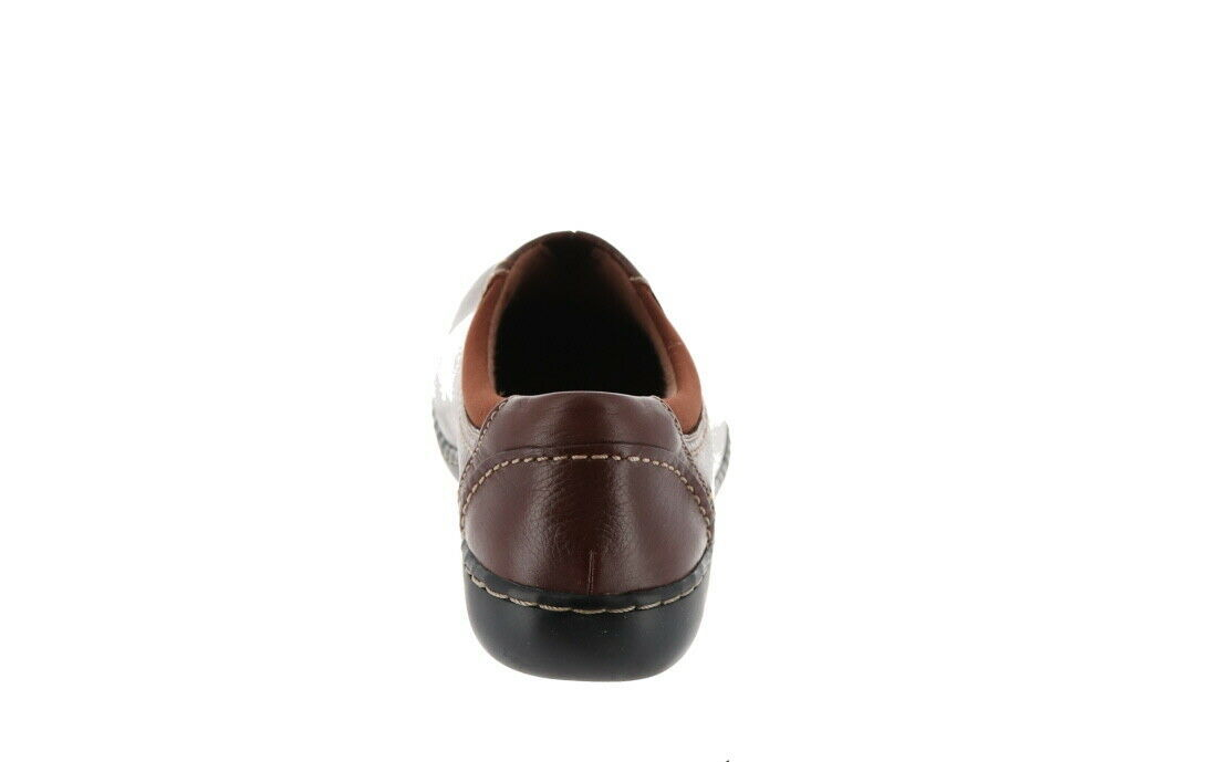 Clarks Leather SlipOn Shoes Ashland Joy Brown 9M NEW A344021