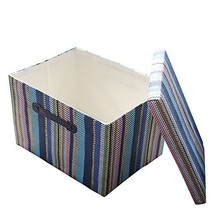 TheWarmHome Decorative Storage Box with Lid for Office Organizer|Decorat... - $18.54