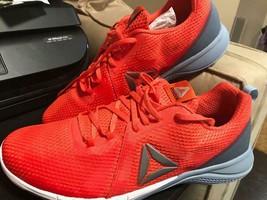 Reebok BD4542 Print 2.0 Men 12 US Round Toe Mesh Net Orange Grey Running... - $84.14