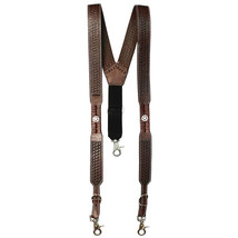 Medium Nocona Belt Mens Star Basket Leather Suspender Brown U-29-M - $51.99