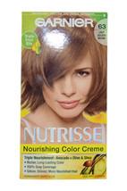 Nutrisse Nourishing Color Creme #63 Light Golden Brown by Garnier for Unisex - 1 - $46.99