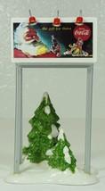 Dept 56 Snow Village COCA COLA Billboard Santa Claus NEW in Box - $24.99