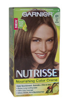 Nutrisse Nourishing Color Creme # 61 Light Ash Brown by Garnier for Unisex - 1 A - $46.99