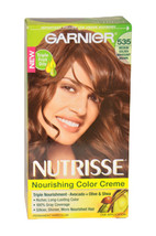 Nutrisse Nourishing Color Creme # 535 Medium Golden Mahogany Brown by Garnier fo - $47.49