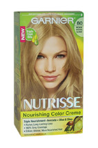 Nutrisse Nourishing Color Creme # 80 Medium Natural Blonde by Garnier for Unisex - $47.99