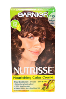 Nutrisse Nourishing Color Creme # 415 Soft Mahogany Dark Brown by Garnier for Wo - $47.99