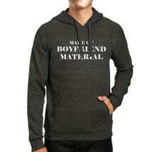 Boyfriend Material Unisex Dark Grey Graphic Hoodie Cute Design - $25.99+