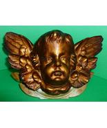 Antique English Cherub Putti Angel Head in Gess... - $295.00