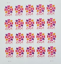 The Hearts Blossom (USPS) 2018 STAMP SHEET 20 Forever Stamp Sheet - $14.95