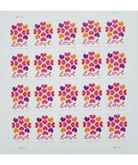 The Hearts Blossom (USPS) 2018 STAMP SHEET 20 Forever Stamp Sheet - $14.95
