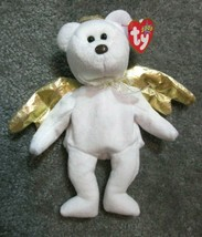 "NEW Ty Beanie Baby Halo II 2 White Angel Teddy Bear 8"" Plush Stuffed Ani... - $5.93"