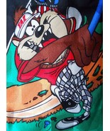 Looney Tunes Mania Tie Taz & Daffy Golfing Silk Novelty Necktie 1996 - $3.50