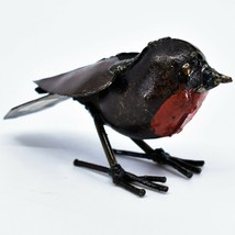 T&K Metalworks Spring Robin Welded Recycled Metal Figurine Made in Zimbabwe