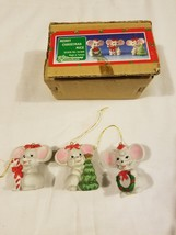 House Of Lloyd Merry Christmas Around The World Vintage Ornaments 3 Mice... - $20.28