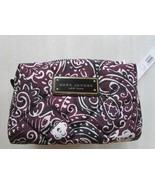 Marc Jacobs Cosmetic Bag Quilted Paisley Pouch Large Aubergine NEW - $69.30
