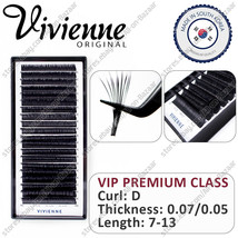NEW! Vivienne Extension Eyelashes Curle D Thickness 0.07 0.05   20 lines - $59.99