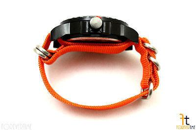 20mm per Luminox Nylon Ondulata Arancione Orologio con Cinturino 4 Acciaio Inox