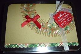 Hallmark Green Plaid Wreath Design On Brown Holiday Cards Set of 12 NEW ... - $19.75