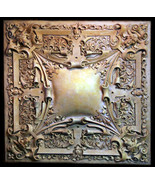 Large Gothic Medallion Ceiling Chandelier or Wall Relief Sculpture Plaque - $692.01