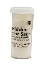 Embossing Arts Embossing Powder, Hidden Color Satin, Red