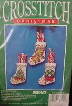 "Christmas Cross Stitch Kit ""Noel Mini- Stockings"" 2.5"" x 3.5"" 14 ct Aida... - $5.99"