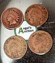 Indian Head Penny 1903, 1905, 1906 and 1907 AA20-CNP2153 Antique image 8
