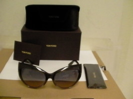 Tom ford New Sunglasses womens Bardot tf 284 20B 59/17 grey frame authentic - $168.25