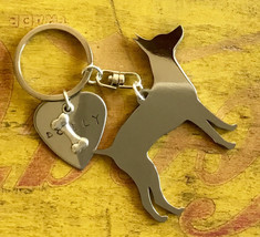 Rat Terrier Custom Keychain, American Rat Terrier, Rattie, Dog Breed Jewelry - $18.00