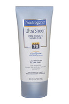 Ultra Sheer Dry-Touch Sunblock SPF 70 by Neutrogena for Unisex - 3 oz Sunblock - $52.49