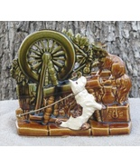 VTG McCoy Pottery Spinning Wheel Scottie Dog Pl... - $43.99