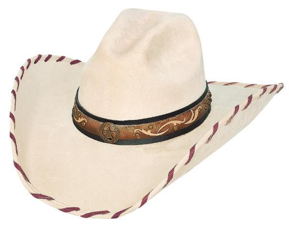 Primary image for Bullhide Straight Shooter Faux Felt Cowgirl Whipstitched Black Brown Buckskin