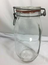 Antique Large Wheaton Vintage Mason Jar w/ Attached Lid 26591 - $29.69
