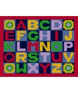 Latch Hook Rug Pattern Chart: ALPHABET- EMAIL2u - $5.75