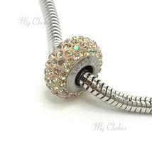 Swarovski European Bracelet Charm Stainless BeCharmed Silm Pave Xilion Chaton image 9