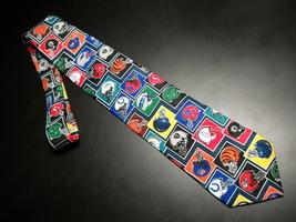 Ralph Marlin Neck Tie Multi Color NFL Football Helmets on Dark Blue Made In USA - $11.99