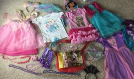Princess Dress Up Lot Purse 4-6 Yr Costume Gown Sparkle Purple - $37.39