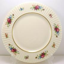 "Lenox Pavlova Dinner Plate 10-3/4"" O386 Ivory Floral Roses Ribbed - $16.83"