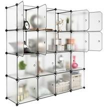 LANGRIA 16 Storage Cube Organizer Plastic Cubby Shelving Drawer Unit, DI... - $100.96