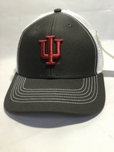 NCAA Indiana Hoosiers Epic Washed Twill Cap, Adjustable Size, Gray White Mesh - $13.09