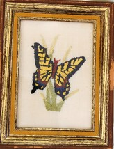 Handcrafted and Finished Butterfly Needlepunch ... - $9.85