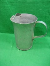 Vintage Hammered Aluminum Water Pitcher Ice Catcher Made in Italy Intricate - $11.26