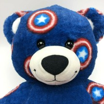 "Build A Bear Plush Bear Marvel Captain America Avengers 16"" Red White Bl... - $32.71"