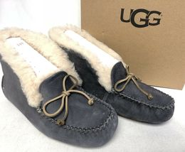 UGG Australia ALENA Nightfall SHEEPSKIN CUFF MOCCASIN SLIPPERS 1004806 womens image 3