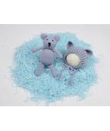 Newborn baby Hat Bear & Gifts Doll Fashion Bears Made hand Design Soft B... - $24.00