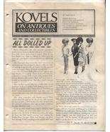 Kovels Antiques Newsletter Barbie Ken Dolls March 1985 - $9.00