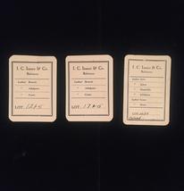 Vintage I.C. Isaacs & Co. (Baltimore) ladies clothing tags - set of 3 image 2