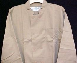 Dickies Chef Jacket 2XL Tan CW070305 Restaurant Button Front UniformCoat New - $39.17