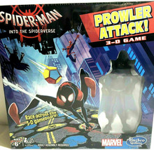 Marvel Spider Man Into Spider Verse Prowler Attack 3 D Race Game & Figur... - $24.43
