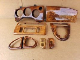 00-03 Jaguar XK8 XKR 8pc Wood Grain Dash Console Switch Trim Set