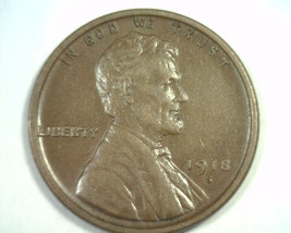 1918-S Lincoln Cent Penny Extra Fine / About Uncirculated XF/AU EF/AU Original - $24.00
